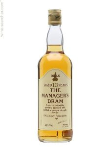 oban the managers dram