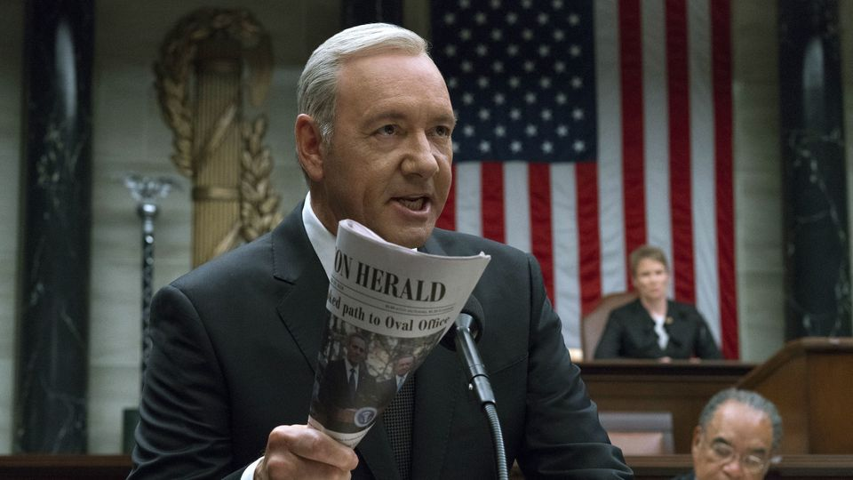 geen Kevin Spacey in House of Cards