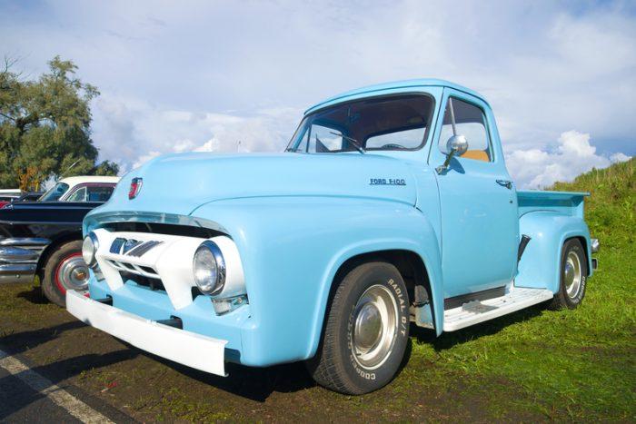 Ford F100 1954 blauw