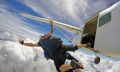 eerste keer parachute springen