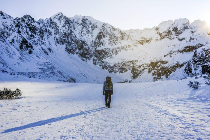 hiken in de winter