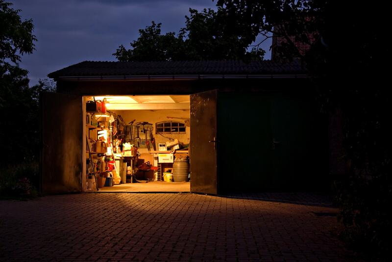 led panelen in de garage