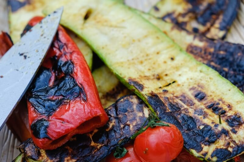 groente van de barbecue