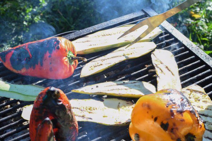 groenten van de barbecue