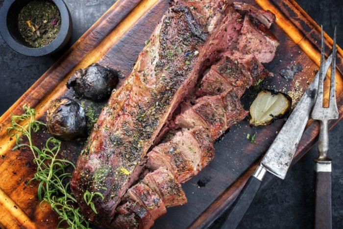 hertenrack van de barbecue