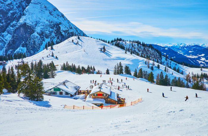 snowboarden in austria