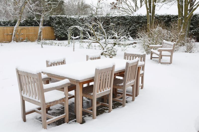tuinmeubelen onderhouden winter