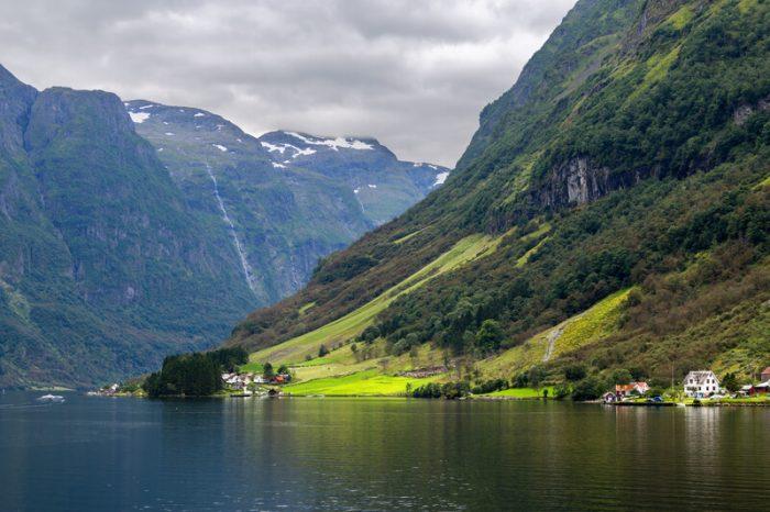 Aurlandsfjord Noorwegen