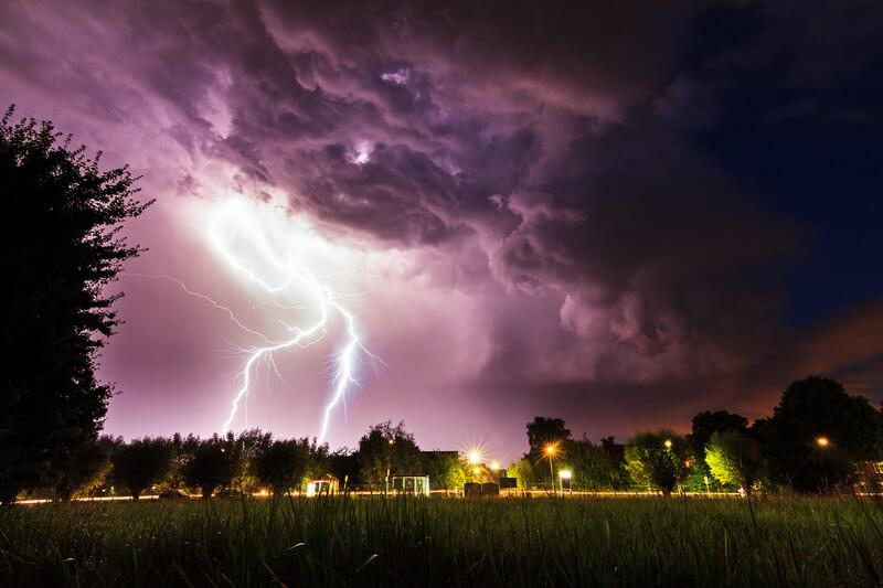 onweer door stijgende temperaturen
